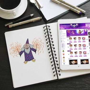Персонаж-маскот для сайта feerverkus.ru