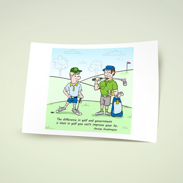 Иллюстрации для гольф-портала