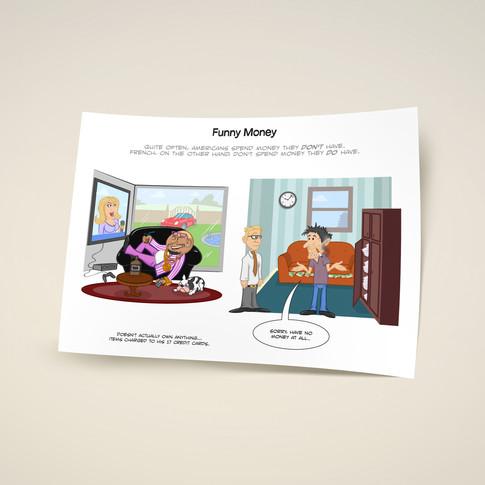 Рисунок для журнала, проект Freedom Fries