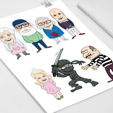 Персонажи для детской книги