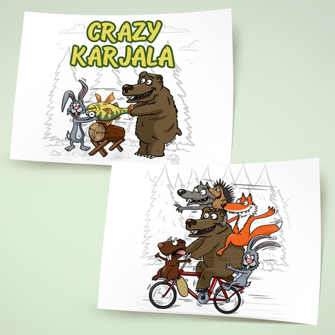 Персонажи и иллюстрации для печати тиража футболок