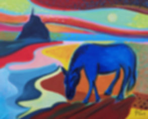 Cheval bleu, Mont St Michel.jpg