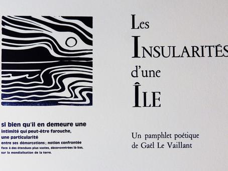 """""""Les insularités d'une île"""" rendez-vous imprimerie"""