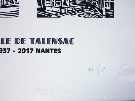 Rare gravure dans l'histoire de la halle de Talensac 1937-2017