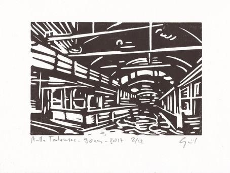 80 ans Halle de Talensac: deux gravures anniversaire