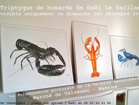 Vente exclusive de homards (poissonnerie picturale)