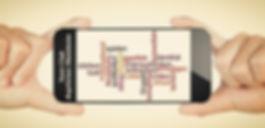 Smartphone mit Schlagworten zum Teenclub