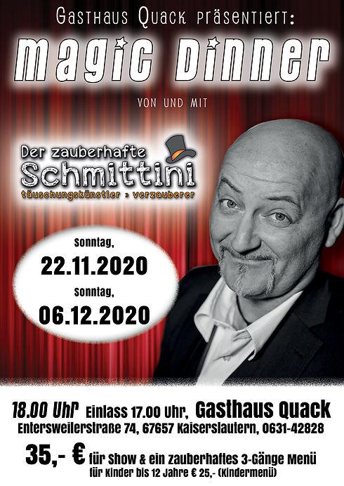 Schmittini -Magic Dinner QUACK-2020-Alle