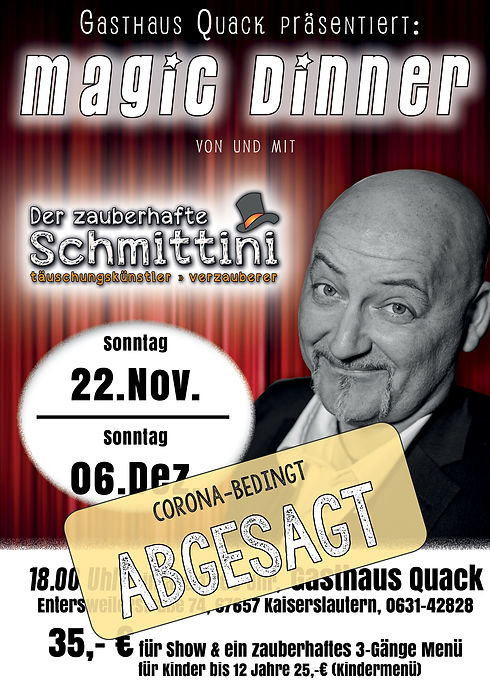 Schmittini -Magic Dinner QUACK-2020-Alle