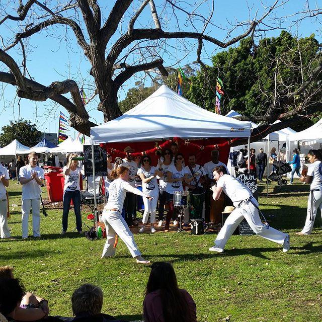 Sambafrog and Capoeira Aruanda performing @olivetreemarket