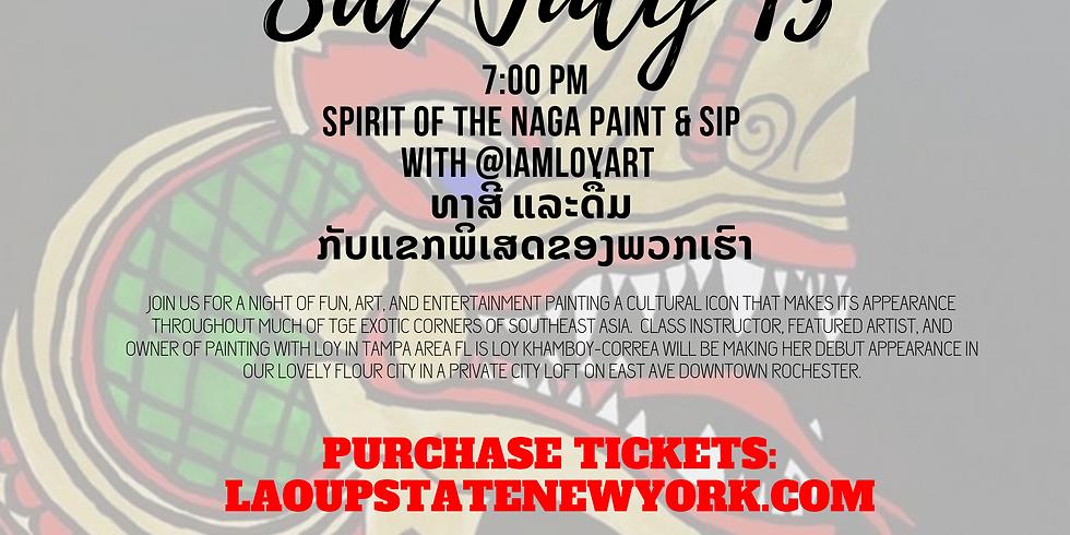 Spirit of the Naga Paint & Sip with @IAMLOYART