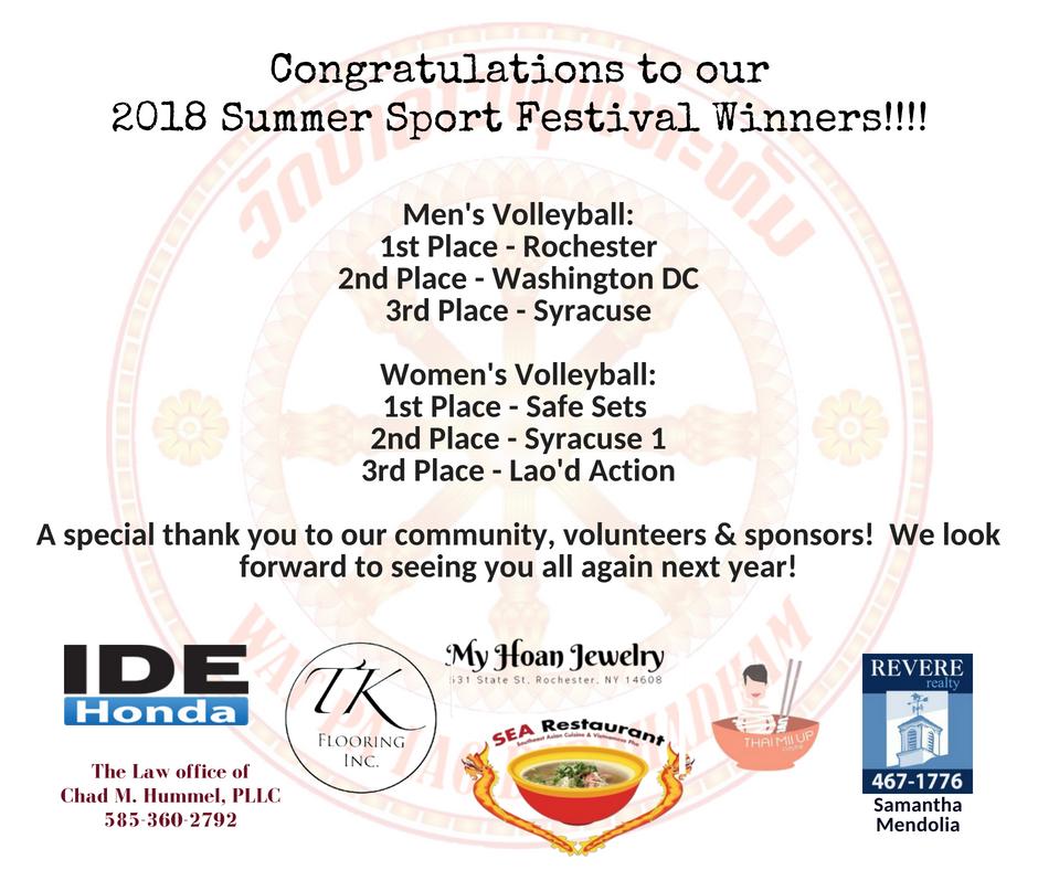 WPLB Summer Sport Fest Winners