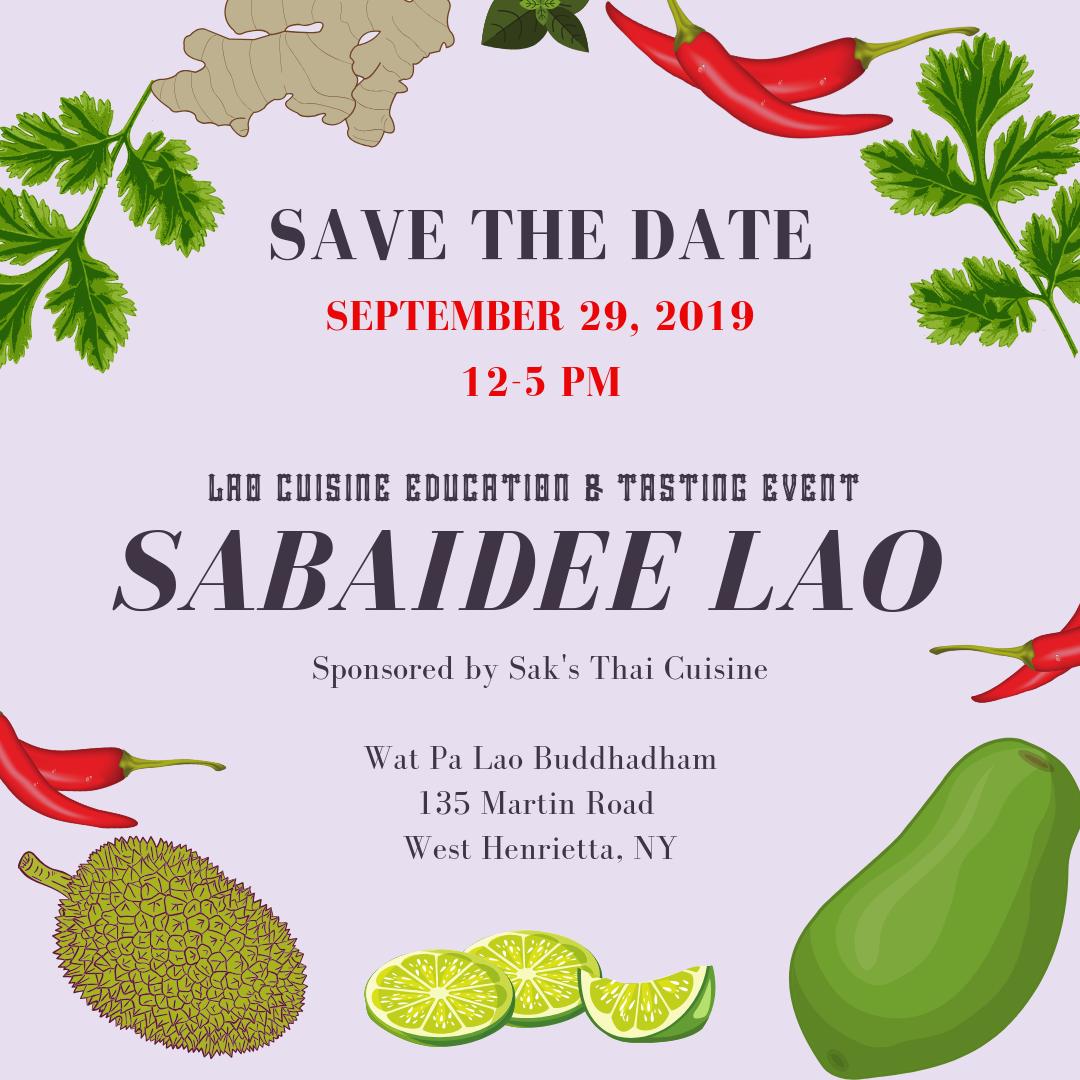 Sabaidee Lao - Lao Cuisine Education & Tasting Event