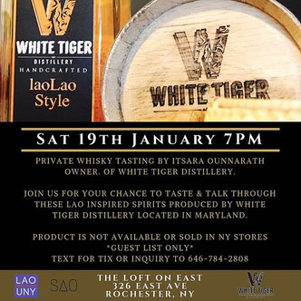 The owners of White Tiger Distillery are