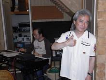 K-FUNKの初CDレコーディング風景。アレンジも担当した有ちゃんと高杉くん。