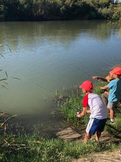 Pesca en familia Madrid