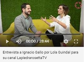 Entrevista a Ignacio Gallo por Lola Guin