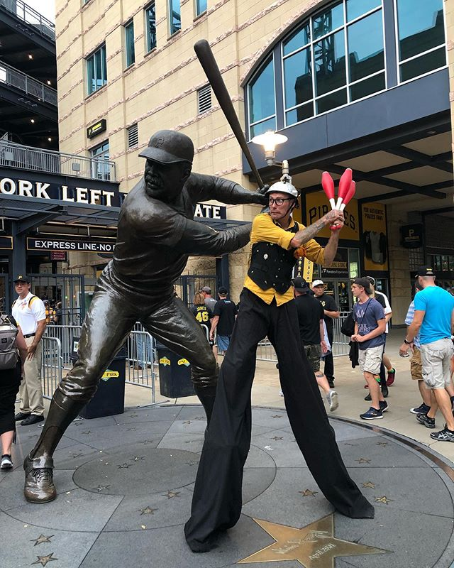 Clowning around at PNC Park on Saturday