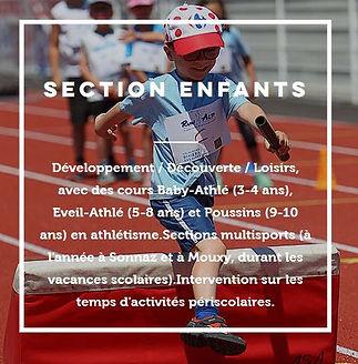 Multisports athle kid enfant activités sportives ai les bains