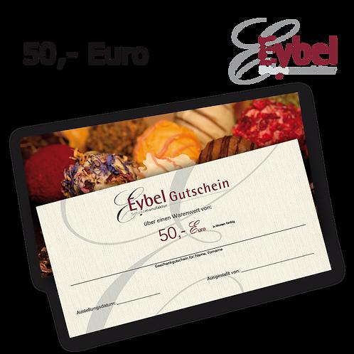 Gutschein 50 EUR per Post für ihre Freunde