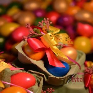 Nougat Eier in Natur Eierschale