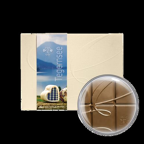 """""""Tegernsee Herz"""" Vollmilchschokolade 40% Kakao 80g"""