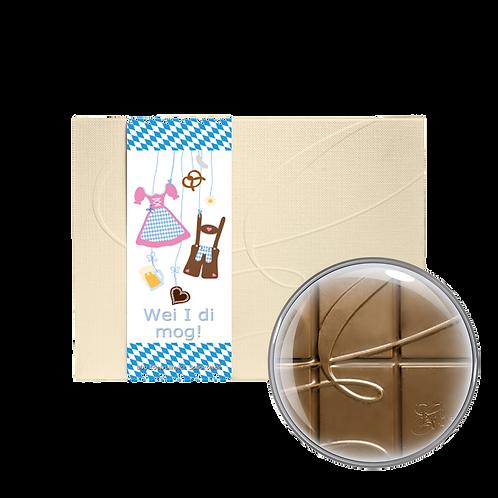 """Wei i di mog"" Vollmilchschokolade 40% Kakao 80g"