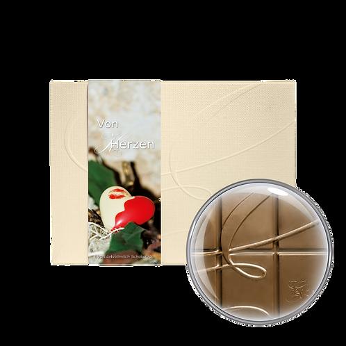 """""""Von Herzen"""" Vollmilchschokolade 40% Kakao 80g"""