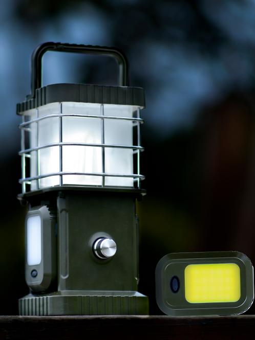 LED Quad Lamp mit 2 Taschenlampen und Bluetooth-Speaker