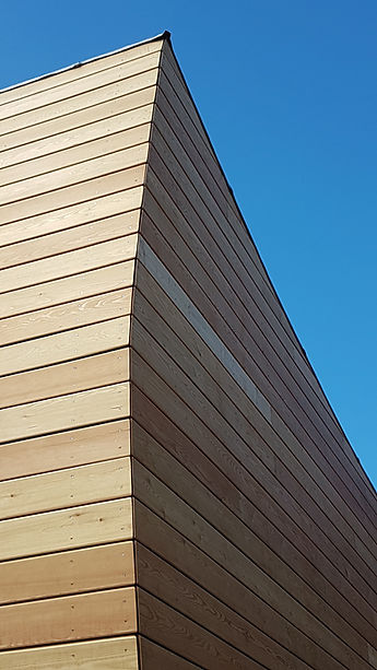 curved larch house cladding rainscreen