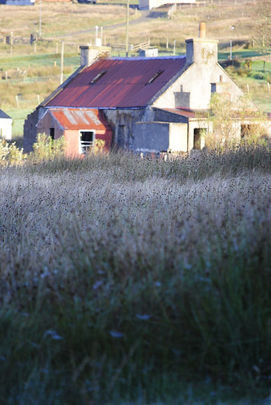 Porteous Architects Isle of Harris Hebrides ruin red roof