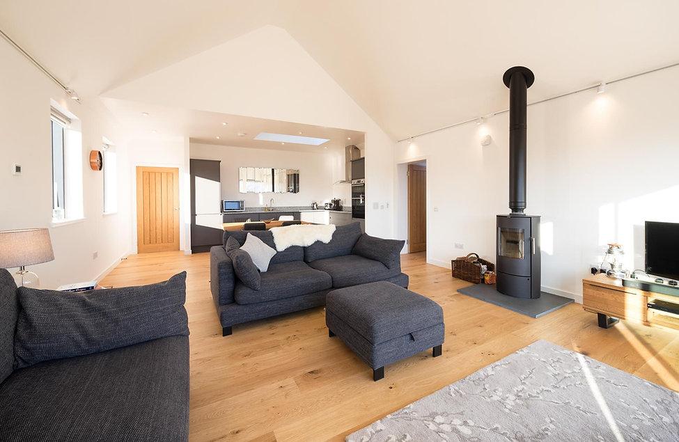 house interior wood burning stove
