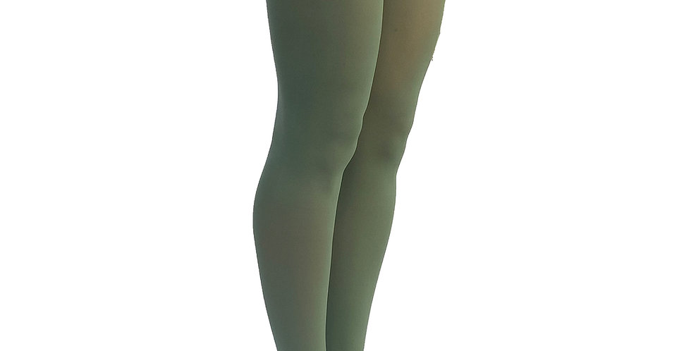 Leaf Green Opaque Tights for Women