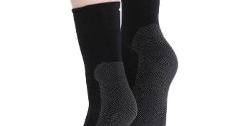Black Cushion Sole Socks for Women