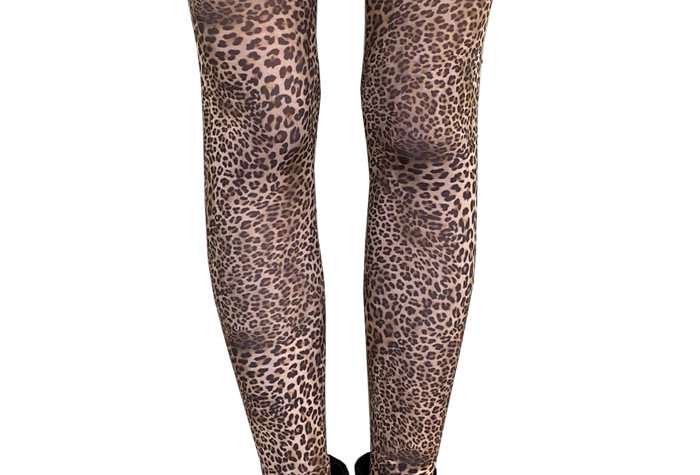 Petite Leopard Patterned Tights for Women