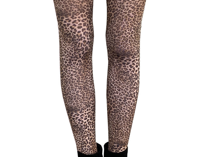 Petite Leopard print tights, fashion patterned tights for women