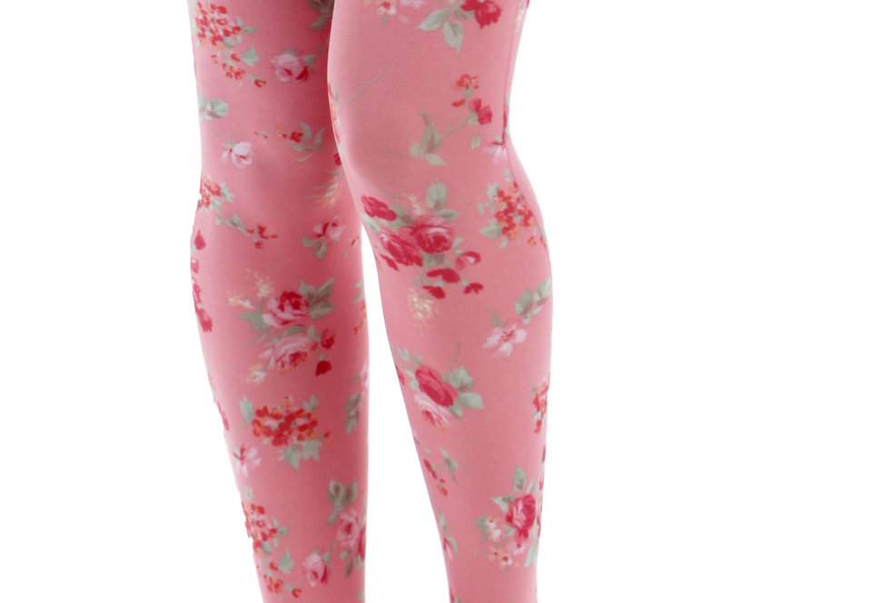 Floral Tights Pink Ditsy for all Women