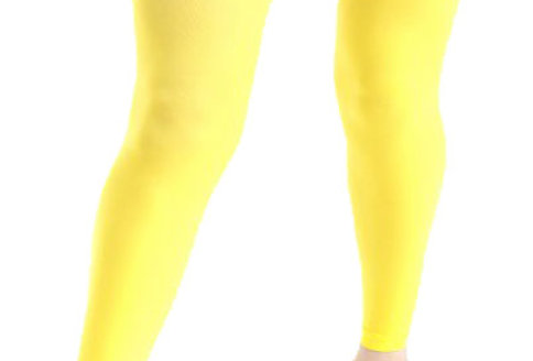 Yellow Footless Tights Opaque 40 D