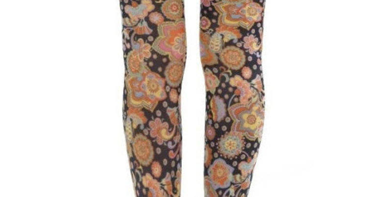 Colorful Floral Patterned Tights Vibrant for all women