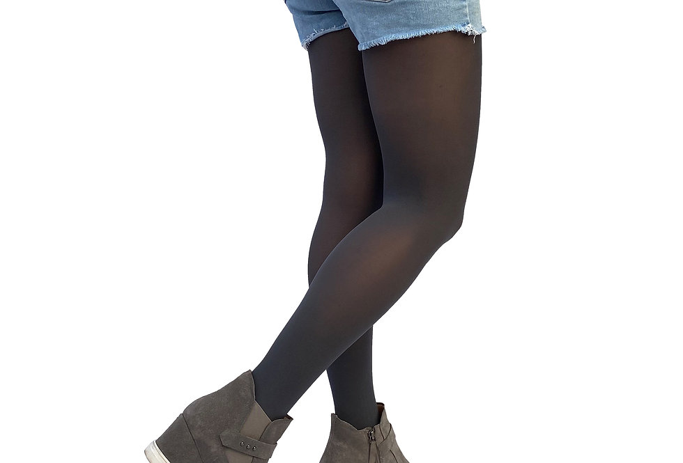 Dark Gray Opaque Tights for Women