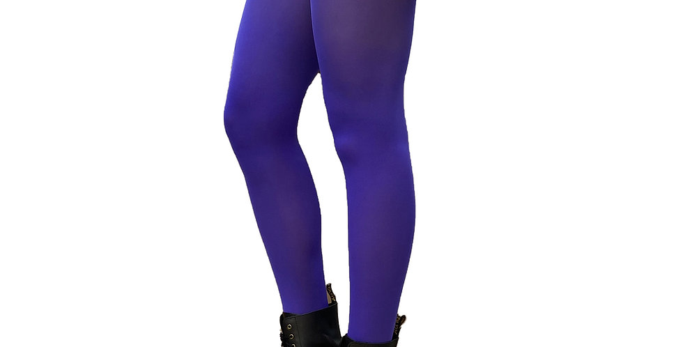 Bright Purple Opaque Tights for All Women