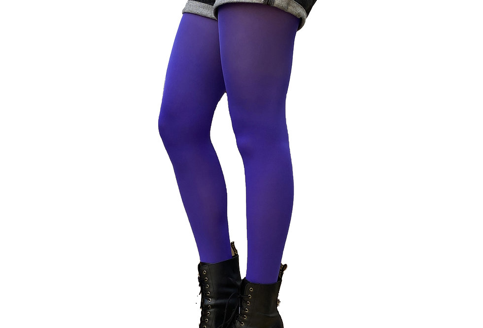 Bright Purple Opaque Tights for Women
