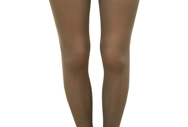 Dark Olive Opaque Tights for All Women