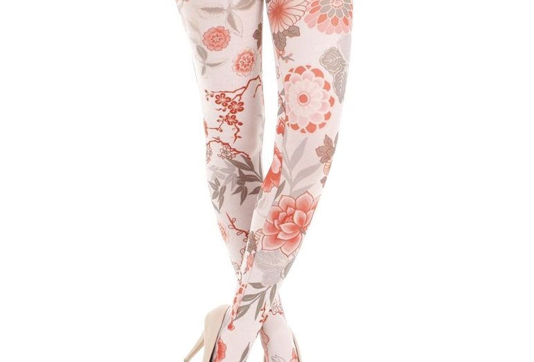 Floral Tights Japanese flower for all Women