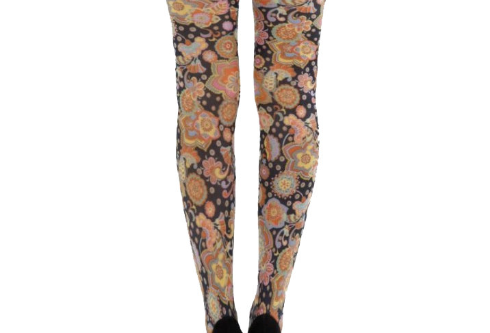 Vibrant Floral Patterned Tights for Women