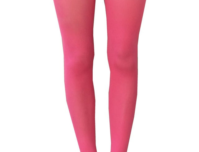 Coral Pink Opaque Tights for All Women