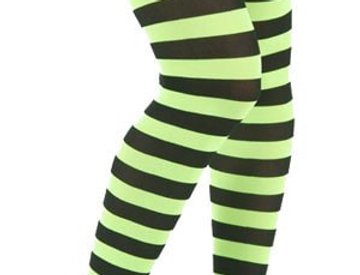 Lime Green Opaque Tights for Women