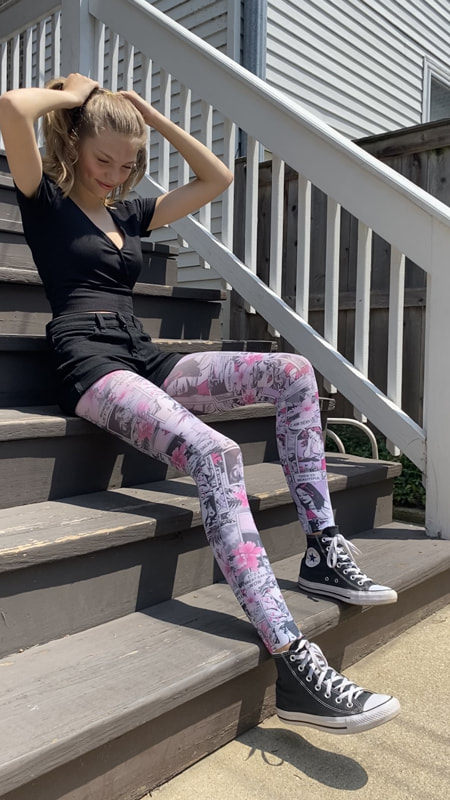 pink-patterned-tights-comics-Malka-Chic-for-women