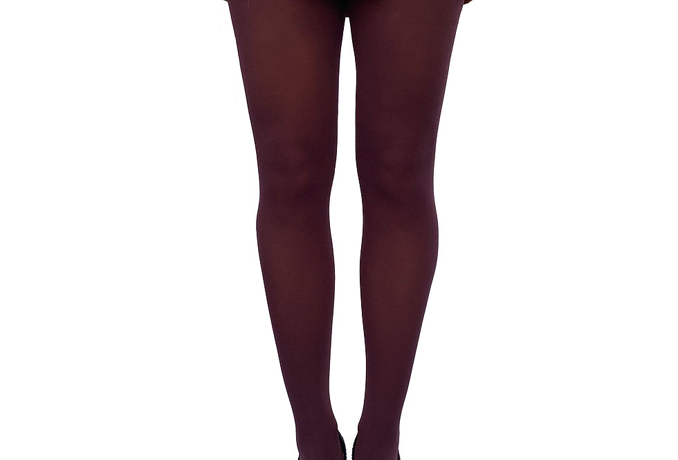 Damson Opaque Tights for Women