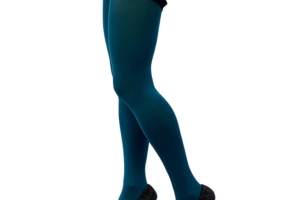 Dark Teal Opaque Tights 80 D for Women